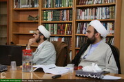 بالصور/ انعقاد مؤتمر صحفي لمناقشة مشروع الأعمال المصرفية الحديثة في المجلس الشورى الإسلامي بقم المقدسة
