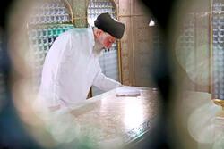 Ayatollah Khamenei attended memorial dusting off Imam Reza Shrine to prepare for Muharram