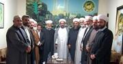 ممثل الامام الخامنئي لشؤون أهل السنة يزور جبهة العمل الإسلامي + صور