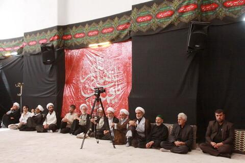 تصاویر/ مراسم عزاداری روز اول محرم در بیوت مراجع