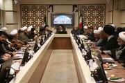 تصویری رپورٹ  جموں و کشمیر کی موجودہ صورتحال کا جائزہ لینے کے لیے ایرانی دینی مدارس کے ہیڈ آفس میں خصوصی اجلاس