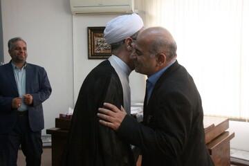 تصاویر/ دیدار رئیس و معاونین دانشگاه فنی و حرفه ای کشور با آیت الله اعرافی