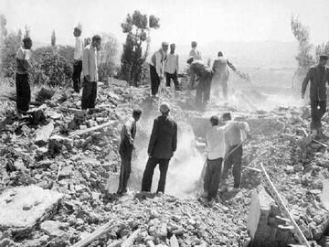 صوت| نقش روحانیون در امدادرسانی به زلزله زدگان فردوس در سال 1347