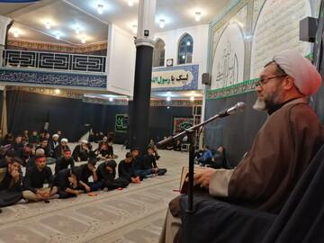 تصاویر/ مراسم عزاداری سید و سالار شهیدان در مدرسه علمیه امام باقر(ع) کامیاران