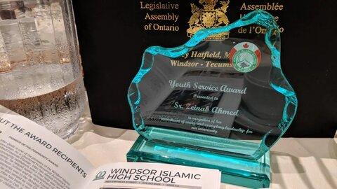 بانوی جوان کانادایی برنده جایزه خدمات اجتماعی شد
