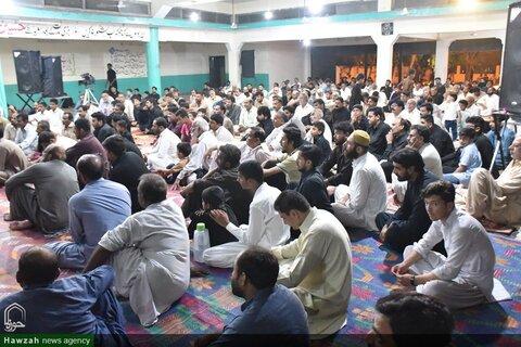 تصاویر/ مراسم عزاداری شب اول محرم در حسینیه شکریال اسلام آباد پاکستان