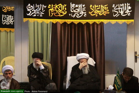 محرم الحرام وذكرى سيد الشهداء (ع)؛بالصور/ إقامة مجالس العزاء في بيوت مراجع الدين والعلماء بقم المقدسة