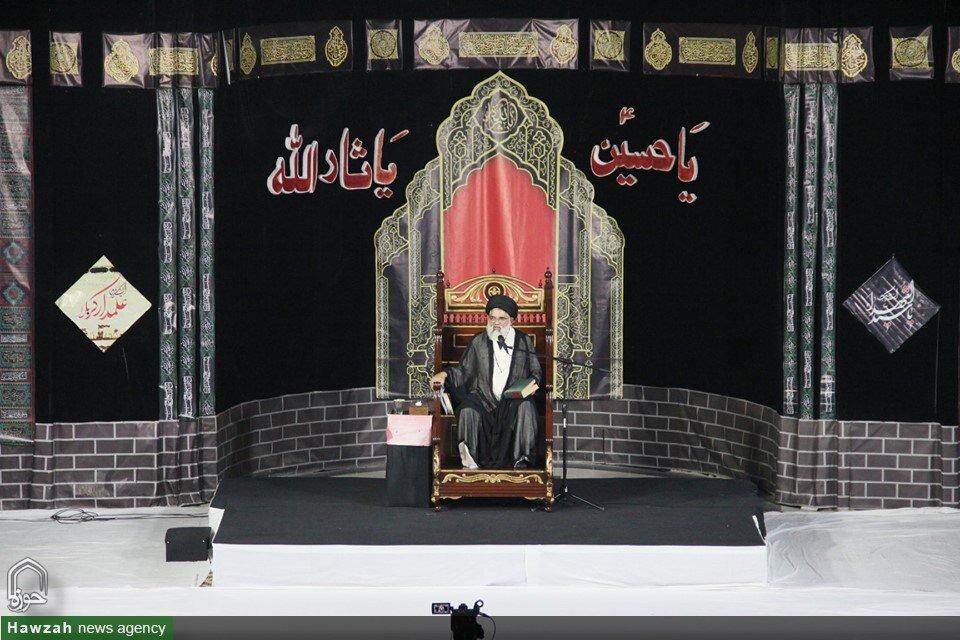 تصاویر/ مراسم عزاداری شب اول محرم در حوزه علمیه العروة الوثقی لاهور پاکستان