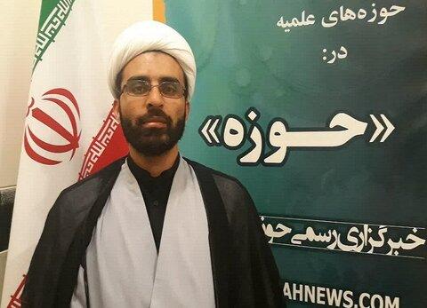 حجت الاسلام اکبر بیات مدیر مدرسه علمیه امام خمینی(ره) کرمانشاه