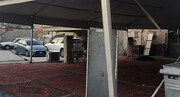 تعرض نیرو های امنیتی رژیم آل خلیفه به نماد های عاشورایی در مناطق مختلف بحرین