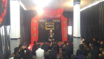 اقامه عزای حسینی در مدرسه آیت الله بهاری(ره) شهر بهار