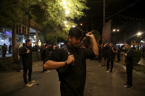 مراسم عزاداری شب پنجم محرم در خیابان شریعتی اهواز