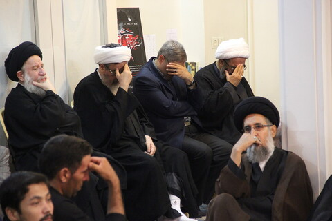 تصاویر/ مراسم عزاداری ابا عبدالله الحسین(ع) در بیوت مراجع