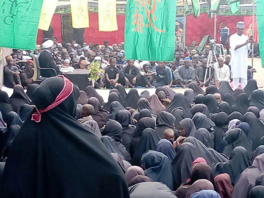 تصاویر / مراسم عزاداری ابا عبدالله الحسین(ع) در شهر فنتوا نیجریه