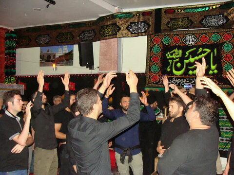 بالصور/ مراسم العزاء الحسيني في مركز أهل البيت (ع) في بلجيكا