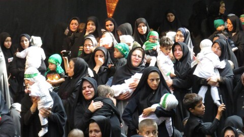 تصاویر/ اجتماع شیرخوارگان حسینی در حسینیه ثارالله همدان