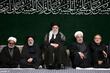 دومین شب از مراسم عزاداری حضرت اباعبدالله الحسین علیهالسلام با حضور رهبر انقلاب