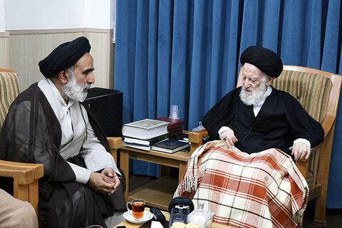 دیدار رئیس مرکز خدمات با آیت الله شبیری زنجانی