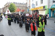 Shia Muslims in Leicester UK March martyrdom of Imam Hussein (A.S)