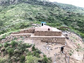 مردم می توانند از محل اکتشاف مسجد باستانی در اسلام آباد دیدن کنند