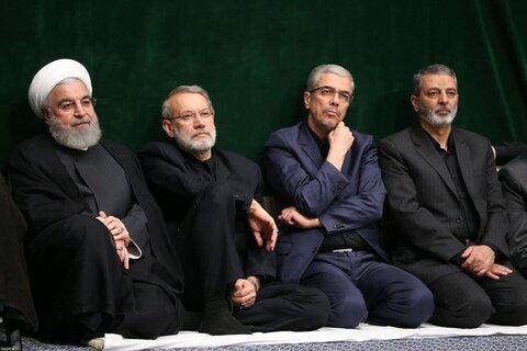 بالصور/ مجلس عزاء الإمام الحسين (ع) في ليلة الثامن من محرّم بحضور الإمام الخامنئي