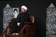 صوت| سخنرانی شب تاسوعای حجت الاسلام والمسلمین عالی در حضور رهبر انقلاب