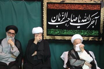 تصاویر/ مراسم سوگواری تاسوعای حسینی در بیوت مراجع و علما-1