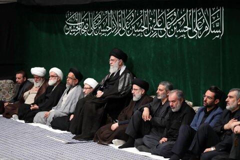 تصاویر/ مراسم عزاداری  شب تاسوعای حسینی در حسینیه امام خمینی