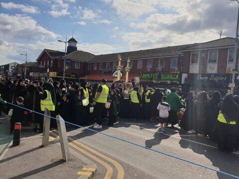 راهپیمایی بزرگ عزاداری در منچستر انگلستان برگزار می شود + تصاویر