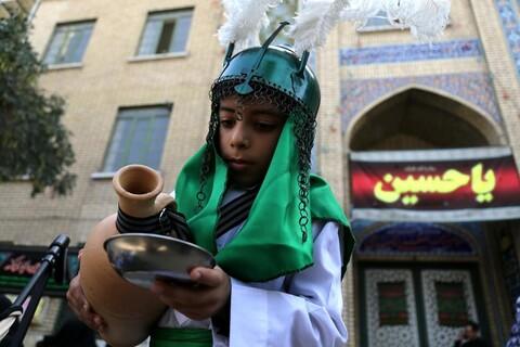 تصاویر/ حال و هوای حرم حضرت معصومه در تاسوعای حسینی