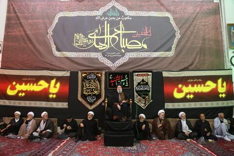 تصاویر/ مراسم سوگواری تاسوعای حسینی در بیوت مراجع و علما