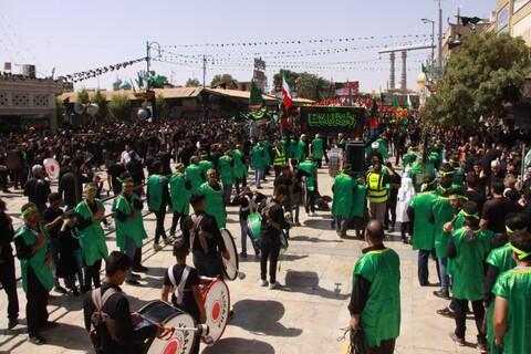تصاویر/ حضور دستهجات عزاداری در حرم کریمه اهل بیت(ع)