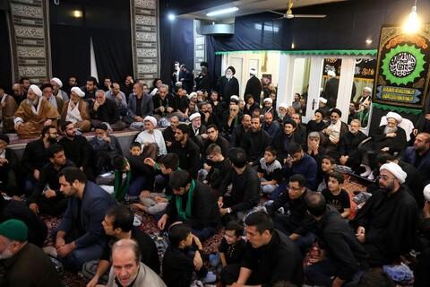 تصاویر/ مراسم سوگواری تاسوعای حسینی در بیوت مراجع و علما-2