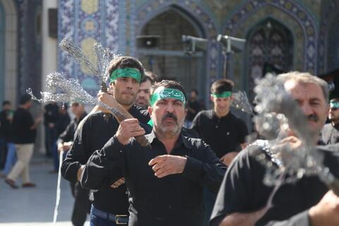 تصاویر/ حضور دستهجات عزاداری در حرم کریمه اهل بیت(ع)-2