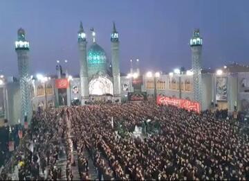 فیلم| مراسم عزاداری امام حسین(ع) در حرم محمدهلال بن علی(ع) آران و بیدگل