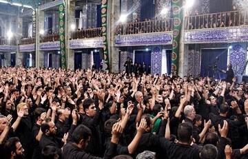 آرامگاه شهید محراب یزد میزبان هیئت های عزاداری تاسوعا و عاشورای حسینی شد