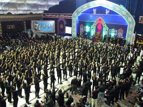 تصاویر/ مراسم عزاداری شب عاشورا در حسینیه ثارالله کرمان