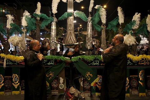 تصاویر/ مراسم عزاداری شب عاشورا در اهواز