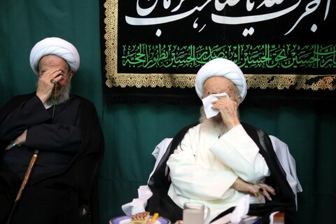 تصاویر/ مراسم عزاداری عاشورای حسینی در بیوت مراجع و علما