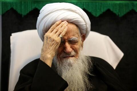 تصاویر/ مراسم عزاداری عاشورای حسینی در بیوت مراجع و علما- آیت الله صافی