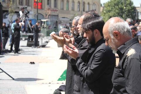تصاویر/ برپایی دسته جات عزاداری و اقامه نماز عاشورا در همدان