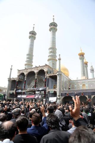 تصاویر/ حضور عزاداران حسینی در حرم حضرت معصومه (س)