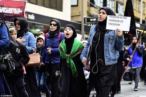 گزارش تصویری از راهپیمایی روز عاشورا در شهر سیدنی