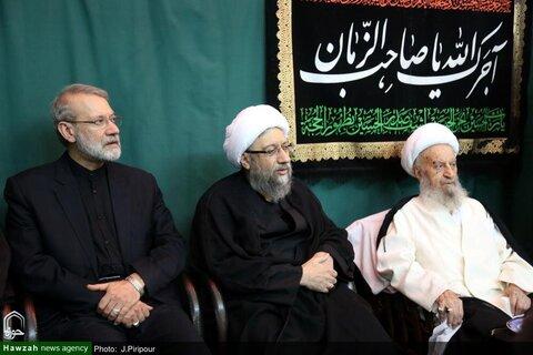 بالصور/ إقامة مجالس العزاء الحسيني في بيوت مراجع الدين والعلماء بقم المقدسة