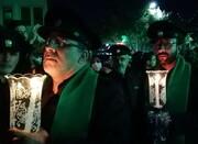 فیلم| شام غریبان حسینی در حرم مطهر رضوی