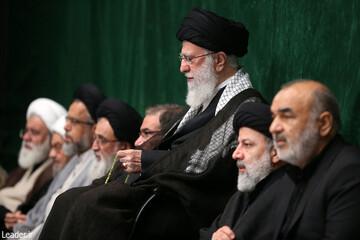 آخرین شب مراسم عزاداری حضرت اباعبدالله علیهالسلام با حضور رهبر معظم انقلاب برگزار شد