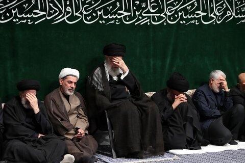 تصاویر/ مراسم عزاداری شام غریبان حسینی (علیهالسلام) در حسینیه امام خمینی