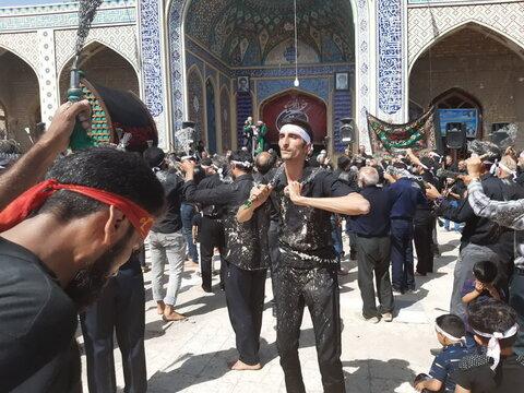 تصاویر/ عزاداری مردم نوش آباد در عاشورای حسینی