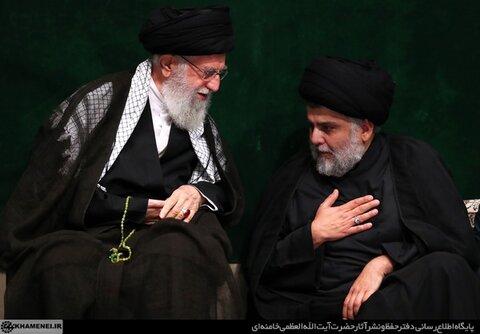 حضور مقتدی صدر در حسینیه امام خمینی ره