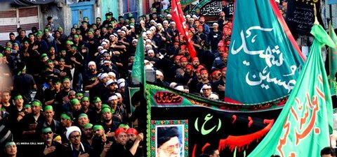 تصاویر/ مراسم عزاداری امام حسین (ع) در کرگل لداخ هند